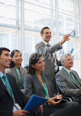 Business people attending seminar in office Stock Photo - Premium Royalty-Freenull, Code: 635-03781799