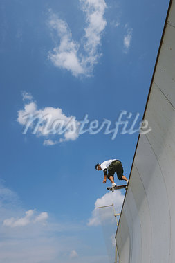 Young adult man skateboarding Stock Photo - Premium Rights-Managed, Artist: Aflo Sport, Code: 858-03799626