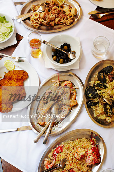 Varietyt of Seafood Dishes on Table Stock Photo - Premium Rights-Managed, Artist: John Cullen, Code: 700-03874622