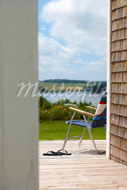Patio Chair, Prince Edward Island, Canada Stock Photo - Premium Rights-Managed, Artist: Yvonne Duivenvoorden, Code: 700-03891299