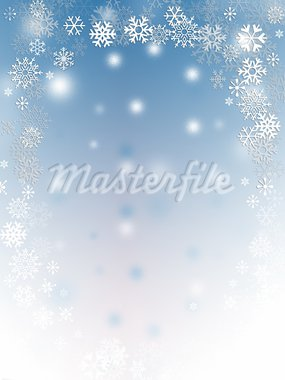 Abstract with white snow flakes against blue background Stock Photo - Royalty-Free, Artist: Friday, Code: 400-03909161