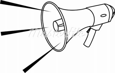 Vector illustration of a megaphone Stock Photo - Royalty-Free, Artist: Krisdog, Code: 400-03913290