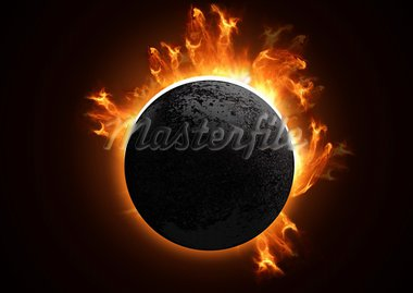 A 3D Total eclipse in detail. Stock Photo - Royalty-Free, Artist: solarseven, Code: 400-03916356