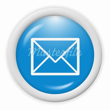3d blue email icon sign - web design illustration Stock Photo - Royalty-Free, Artist: stelianion, Code: 400-03919820