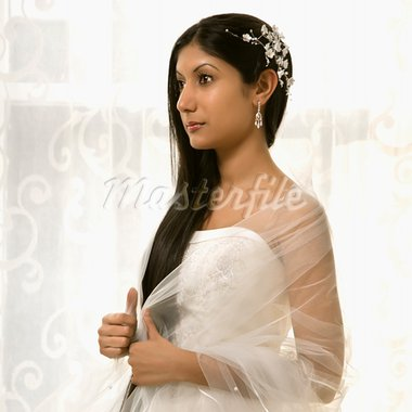 Portrait of an Indian bride. Stock Photo - Royalty-Free, Artist: iofoto, Code: 400-03920992