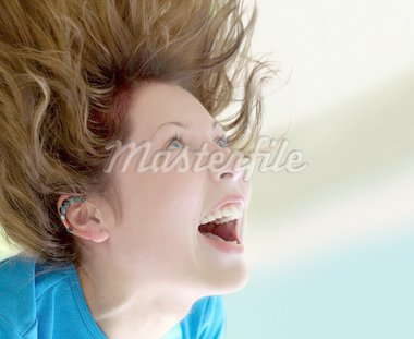 Happy girl screaming Stock Photo - Royalty-Free, Artist: barsik, Code: 400-03941851