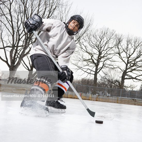 ice skating hockey