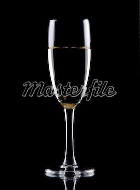 Glass of white wine isolated over black background, Stock Photo - Royalty-Free, Artist: lostbear, Code: 400-03948193