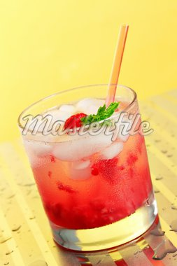 Raspberry Rickey in a highball glass Stock Photo - Royalty-Free, Artist: kasia75, Code: 400-03948275