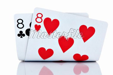 Pocket Eights isolated on white background Stock Photo - Royalty-Free, Artist: kasia75, Code: 400-03949911