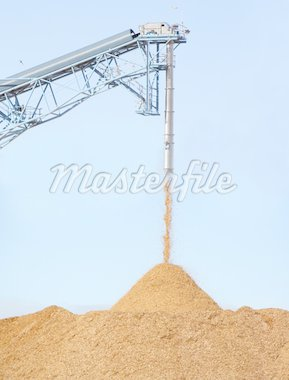 Pile of pouring wood chips Stock Photo - Royalty-Free, Artist: mblain, Code: 400-03951725
