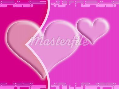 Computer designed abstract background - Valentine's day card with two harts Stock Photo - Royalty-Free, Artist: Lizard, Code: 400-03956604