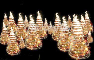 xmas tree from the lights on the black background Stock Photo - Royalty-Free, Artist: jonnysek, Code: 400-03956701
