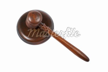 Wooden gavel from the court isolated on white background Stock Photo - Royalty-Free, Artist: broker, Code: 400-03960450