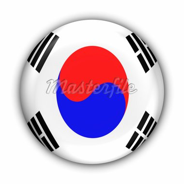 World Flag Button Series - Asia - S Korea (With Clipping Path) Stock Photo - Royalty-Free, Artist: jlye, Code: 400-03963799