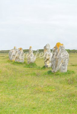 Prehistoric megalithic monuments menhirs in Brittany, France Stock Photo - Royalty-Free, Artist: Elenathewise, Code: 400-03967253