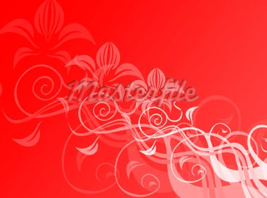 Floral decoration in red for a colorful background Stock Photo - Royalty-Free, Artist: Guilu, Code: 400-03967531