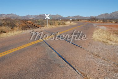 Railway intersection, Bisbee, Arizona Stock Photo - Royalty-Free, Artist: disorderly, Code: 400-03973213