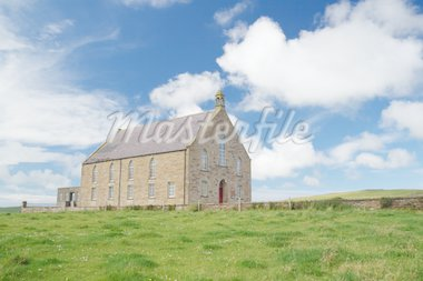 A traditional presbyterian parish church in Orkney in summer Stock Photo - Royalty-Free, Artist: moonmeister, Code: 400-03973784