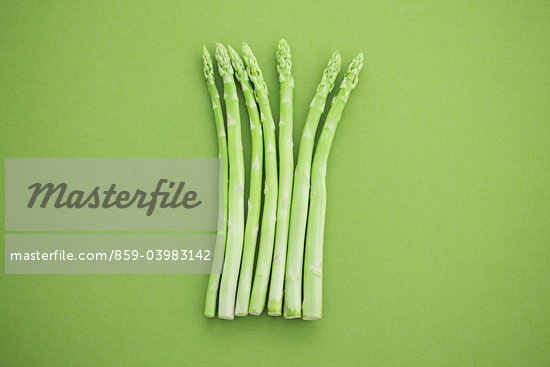 Asparagus On Green Background Stock Photo - Premium Rights-Managed, Artist: Aflo Relax, Code: 859-03983142