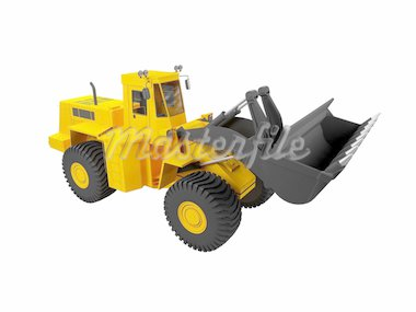 isolated heavy machine on white background Stock Photo - Royalty-Free, Artist: fckncg, Code: 400-03983316