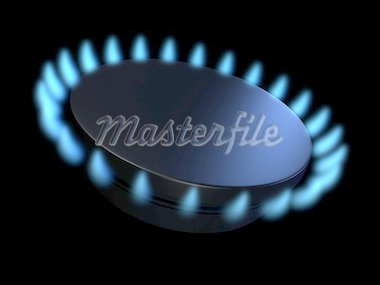 3d rendered illustration of a simple gasflame Stock Photo - Royalty-Free, Artist: Eraxion, Code: 400-03986341