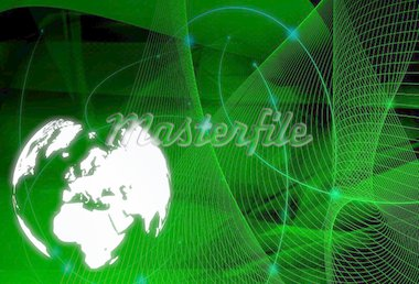 world map technology-style Stock Photo - Royalty-Free, Artist: ilolab, Code: 400-03987456