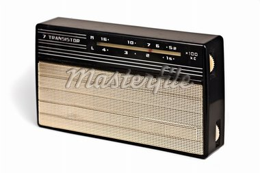 vintage transistor radio recevier isolated on white background Stock Photo - Royalty-Free, Artist: SVLumagraphica, Code: 400-03994014