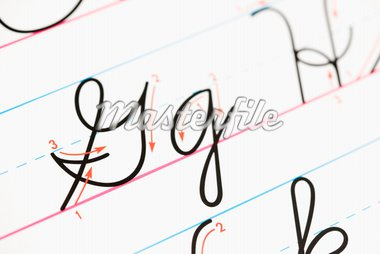 Close up of cursive handwriting practice page. Stock Photo - Royalty-Free, Artist: iofoto, Code: 400-04002703