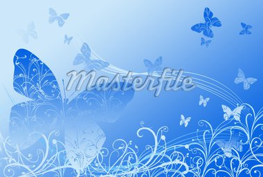 springtime fresh background with butterfly Stock Photo - Royalty-Free, Artist: dabobabo, Code: 400-04003833