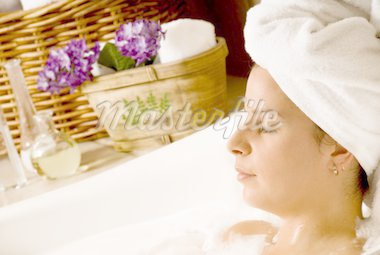 woman getting aromatherapy in a day spa Stock Photo - Royalty-Free, Artist: yanc, Code: 400-04005270