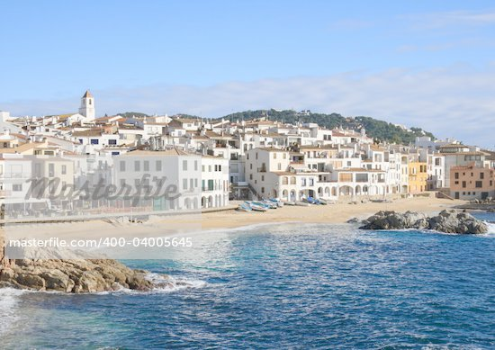 The beautiful village of Calella de Palafrugell (Costa Brava, Catalonia, Spain) Stock Photo - Royalty-Free, Artist: Marlee, Code: 400-04005645