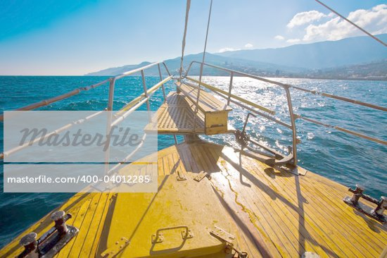 leisure series: yacht journey in the summer sealine