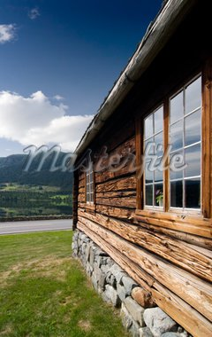 An old log building detail in Norway Stock Photo - Royalty-Free, Artist: Leaf, Code: 400-04015132