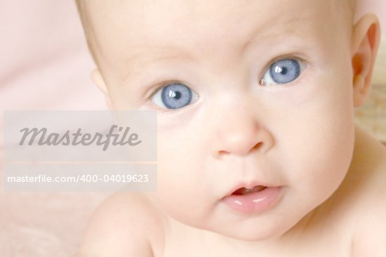 Little Baby Girl on belly Stock Photo - Royalty-Free, Artist: melking, Code: 400-04019623