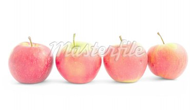four apples in the line Stock Photo - Royalty-Free, Artist: kmit, Code: 400-04020294