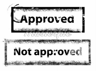approved stamp Stock Photo - Royalty-Free, Artist: photosmillenium, Code: 400-04022930