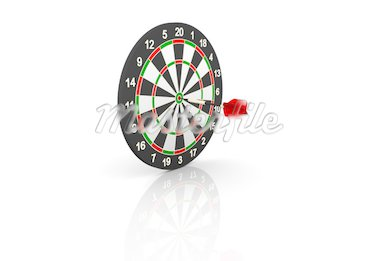 dartboard and flying on white background Stock Photo - Royalty-Free, Artist: TM_Design, Code: 400-04043467