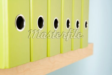 Row Of Green Ring Binders Stock Photo - Royalty-Free, Artist: MonkeyBusinessImages, Code: 400-04047648