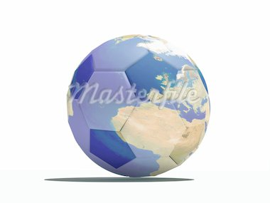 football close-up ball with earth texture(3Dimage) Stock Photo - Royalty-Free, Artist: vicnt, Code: 400-04061338