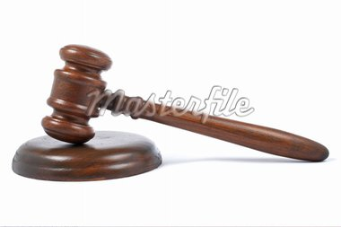 Wooden gavel from the court with soft shadow on white background Stock Photo - Royalty-Free, Artist: broker, Code: 400-04062832