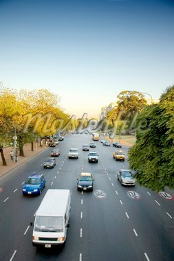A wide avenue with traffic in the Argentinean capital, Buenos Aires Stock Photo - Royalty-Free, Artist: microstock, Code: 400-04065024