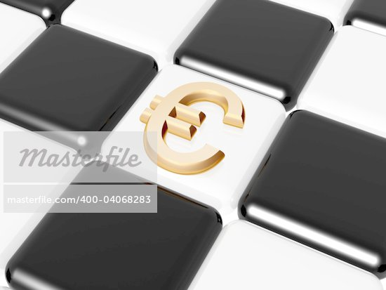 3d golden signs of euro over chess-board Stock Photo - Royalty-Free, Artist: marinini, Code: 400-04068283