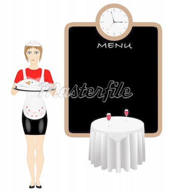 Young woman holding plate of fresh roasted duck Stock Photo - Royalty-Free, Artist: mta, Code: 400-04073891