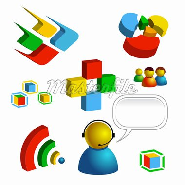 web and technology related vector isolated icons Stock Photo - Royalty-Free, Artist: EXILE, Code: 400-04084764