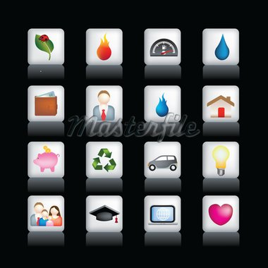 Vector icon set of detailed 3d home icons  Stock Photo - Royalty-Free, Artist: joingate, Code: 400-04098041