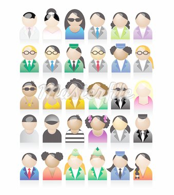 Set of peoples icons Stock Photo - Royalty-Free, Artist: Kudryashka, Code: 400-04098935