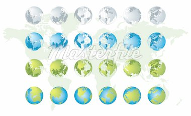 World map, 3D globe series Stock Photo - Royalty-Free, Artist: Kudryashka, Code: 400-04105441