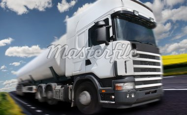truck driving on country-road/motion blur Stock Photo - Royalty-Free, Artist: mikdam, Code: 400-04123671