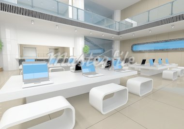 modern office interior (3D rendering) Stock Photo - Royalty-Free, Artist: vicnt, Code: 400-04128530